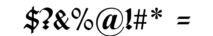 Typographer Uncialgotisch Font OTHER CHARS