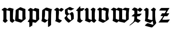 Typographer Uncialgotisch Font LOWERCASE