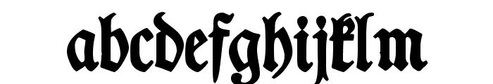 TypographerFraktur Bold Font LOWERCASE
