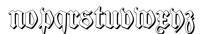 TypographerFraktur Shadow Font LOWERCASE