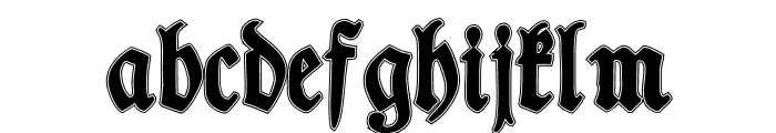 TypographerFrakturContour Font LOWERCASE