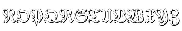 TypographerFrakturShadow Font UPPERCASE
