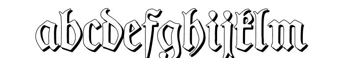 TypographerFrakturShadow Font LOWERCASE