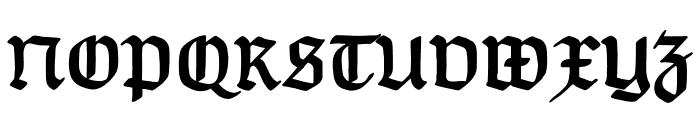 TypographerGotisch A Bold Font UPPERCASE