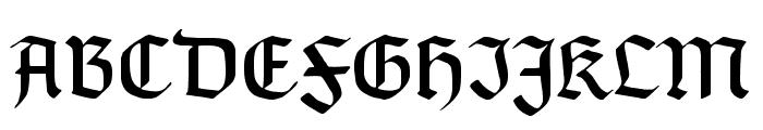 TypographerGotisch A UNZ1 Font UPPERCASE