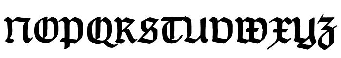 TypographerGotisch B Bold Font UPPERCASE