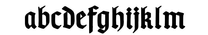TypographerGotisch B Bold Font LOWERCASE