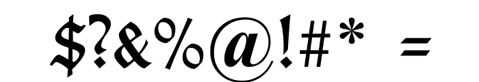 TypographerGotisch B Font OTHER CHARS