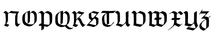 TypographerGotisch B Font UPPERCASE