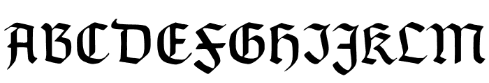 TypographerGotisch C Font UPPERCASE