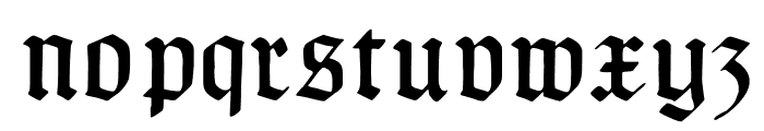 TypographerGotisch C Font LOWERCASE