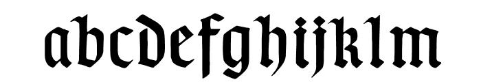 TypographerGotisch D Font LOWERCASE