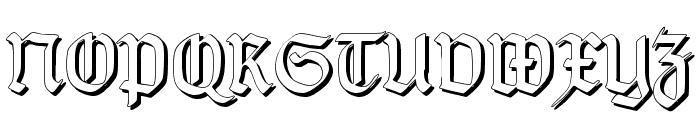 TypographerGotisch Schatten S Font UPPERCASE