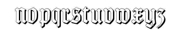 TypographerGotisch Schatten S Font LOWERCASE
