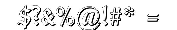 TypographerGotisch Schatten Font OTHER CHARS