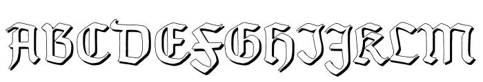 TypographerGotisch Schatten Font UPPERCASE