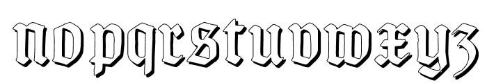 TypographerGotisch Schatten Font LOWERCASE