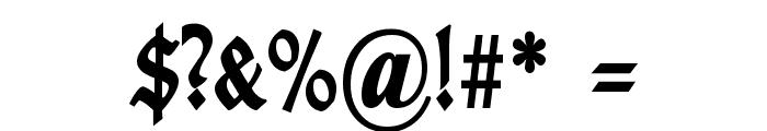 TypographerGotisch Schmal Bold Font OTHER CHARS
