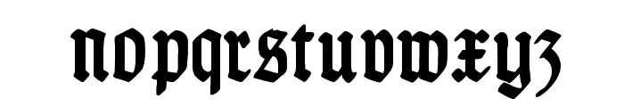 TypographerGotisch Schmal Bold Font LOWERCASE