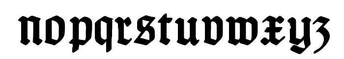 TypographerGotisch Schmuck Bold Font LOWERCASE