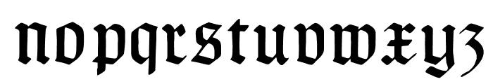 TypographerGotischB Font LOWERCASE