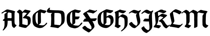 TypographerGotischC-Bold Font UPPERCASE