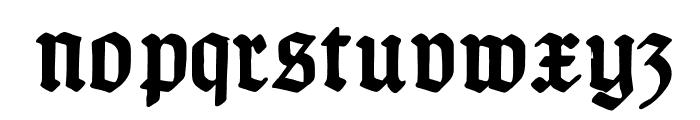TypographerGotischC-Bold Font LOWERCASE