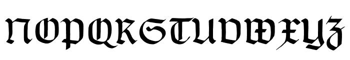 TypographerGotischC Font UPPERCASE
