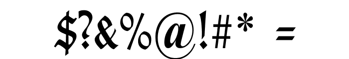 TypographerGotischSchmal Font OTHER CHARS
