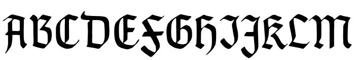 TypographerGotischSchmal Font UPPERCASE