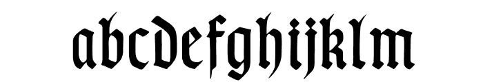 TypographerGotischSchmal Font LOWERCASE