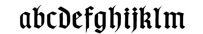 TypographerGotischSchmuck Font LOWERCASE