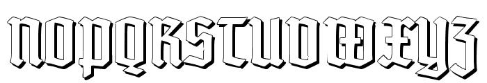 TypographerTextur Schatten Font UPPERCASE