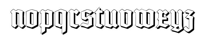 TypographerTextur Schatten Font LOWERCASE