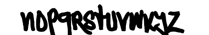 Typographic Onedalism Font LOWERCASE
