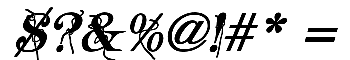 Typography ties Bold Italic Font OTHER CHARS