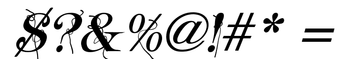 Typography ties Italic Font OTHER CHARS