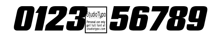 Typoline Expanded Italic Font OTHER CHARS