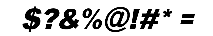 Typoster Italic Font OTHER CHARS