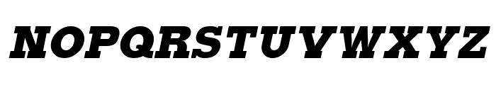 Typoster Italic Font UPPERCASE