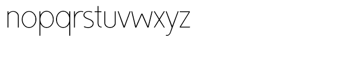 TyfoonSans ExtraLight Font LOWERCASE