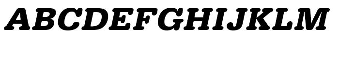 Typewriter Bold Wide Oblique Font UPPERCASE