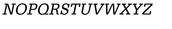 Typewriter Regular Narrow Oblique Font UPPERCASE