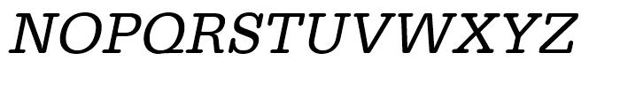 Typewriter Regular Oblique Font UPPERCASE