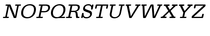 Typewriter Regular Wide Oblique Font UPPERCASE