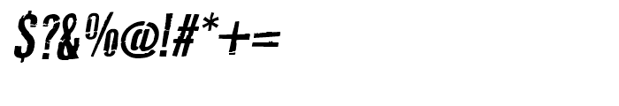 Typochondriac Bold Oblique Font OTHER CHARS