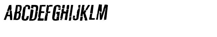 Typochondriac Bold Oblique Font UPPERCASE