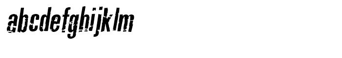 Typochondriac Bold Oblique Font LOWERCASE