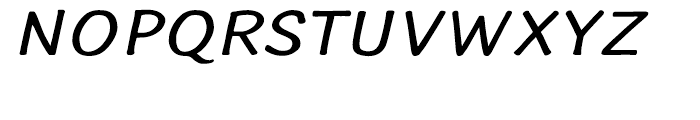 Typothetical 1 Expand Oblique Font UPPERCASE