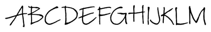 TyfoonScript Light Font UPPERCASE